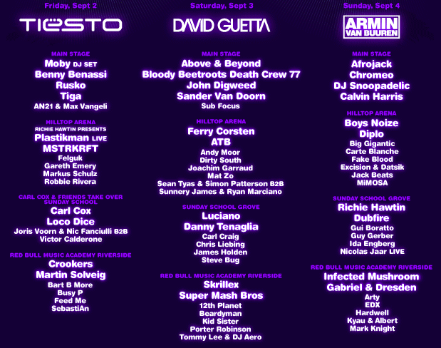 Electric Zoo The Lineup